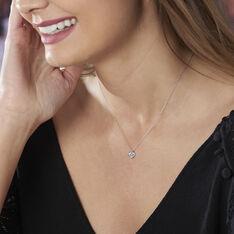 Collier Coeur Serti Clos Or Blanc Oxyde De Zirconium - Colliers Femme | Marc Orian