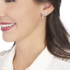 Bijoux D'oreilles Kaelle Or Blanc Oxyde De Zirconium - Boucles d'oreilles Ear cuffs Femme | Marc Orian