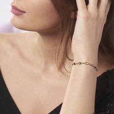 Bracelet Ilvaae Plaque Or Jaune Pierre De Synthese - Bracelets chaînes Femme   Marc Orian