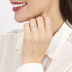 Bague Vaguelette Or Blanc Diamant - Bagues Femme | Marc Orian