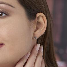 Boucles D'oreilles Puces Selima Argent Blanc - Clous d'oreilles Femme | Marc Orian