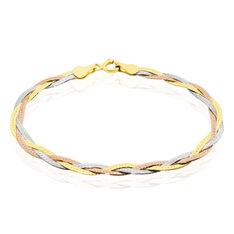 Bracelet Elae Maille Tresse Argent Tricolore - Bracelets fantaisie Femme | Marc Orian