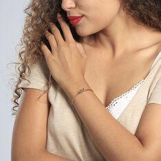 Bracelet Jonc Veroniica Argent Rose - Bracelets fantaisie Femme   Marc Orian