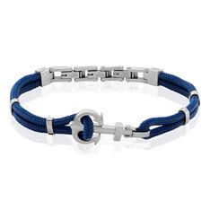Bracelet Rokhiya Acier Blanc - Bracelets cordons Homme | Marc Orian
