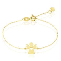 Bracelet Hallie Ange Et Coeur Or Jaune - Bracelets chaînes Enfant | Marc Orian