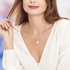 Collier Nina Cera Argent Blanc Strass Et Céramique - Colliers Femme | Marc Orian