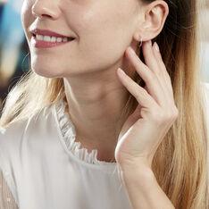 Créoles Valerina Ciselees Or Blanc - Boucles d'oreilles Créoles Femme   Marc Orian