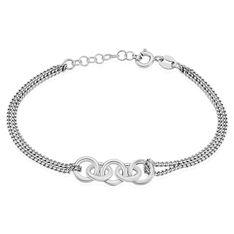 Bracelet Akira Argent Blanc - Bracelets chaînes Femme | Marc Orian
