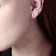 Boucles D'oreilles Puces Daria Cœur 0 Or Jaune Strass - Clous d'oreilles Femme | Marc Orian