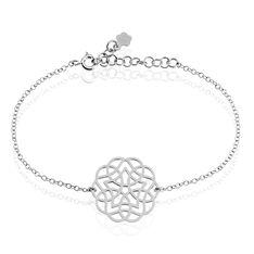 Bracelet Kaylane Argent Blanc - Bracelets fantaisie Femme | Marc Orian