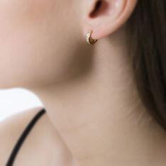 Créoles Ivria Or Jaune Oxyde De Zirconium - Boucles d'oreilles Créoles Femme | Marc Orian