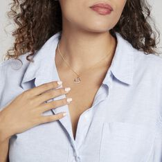Pendentif Coeur Penche Double Or Bicolore Oxyde De Zirconium - Pendentifs Femme   Marc Orian