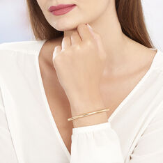 Bracelet Jonc Louliaae Plaque Or Jaune - Bracelets fantaisie Femme   Marc Orian