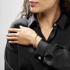 Bracelet Jonc Carinne Argent Blanc Oxyde De Zirconium - Bracelets jonc Femme | Marc Orian