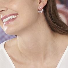 Bijoux D'oreilles Hiva Argent Blanc Oxyde De Zirconium - Boucles d'oreilles Ear cuffs Femme | Marc Orian