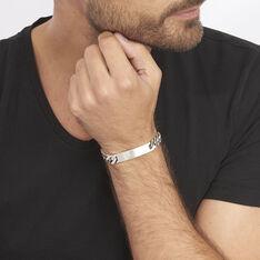 Bracelet Identité Casper Argent Gris - Gourmettes Homme | Marc Orian