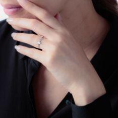 Bague Chamirame Or Blanc Oxyde De Zirconium - Bagues Solitaire Femme | Marc Orian