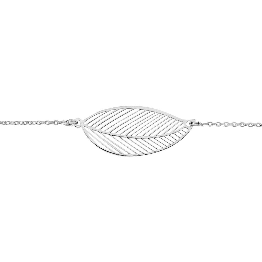 Bracelet Raissa Argent Rhodie Feuille - Bracelets chaînes Femme | Marc Orian