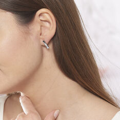 Boucles D'oreilles Puces Calie Argent Blanc Oxyde De Zirconium - Clous d'oreilles Femme | Marc Orian