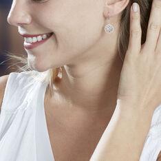 Boucles D'oreilles Pendantes Aarona Or Blanc Diamant - Boucles d'oreilles Pendantes Femme | Marc Orian