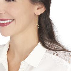 Boucles D'oreilles Pendantes Lamiya Or Jaune - Boucles d'oreilles Pendantes Femme   Marc Orian