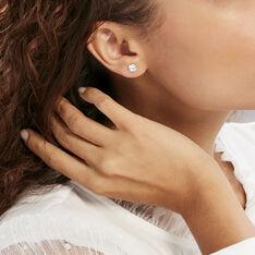 Boucles D'oreilles Puces Philia Argent Blanc Oxyde De Zirconium - Clous d'oreilles Femme | Marc Orian