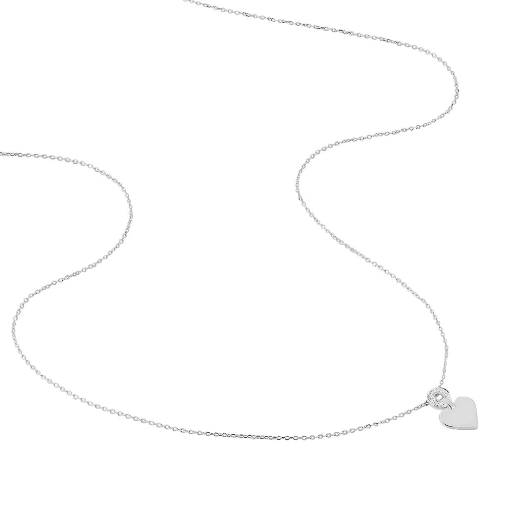 Collier Or Blanc Loreen Diamants - Colliers Femme | Marc Orian