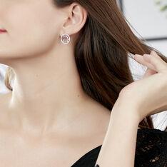 Boucles D'oreilles Puces Analie Argent Blanc Oxyde De Zirconium - Clous d'oreilles Femme | Marc Orian