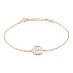 Bracelet Argent Rose Rhodie Rosae Rosace Nacre - Bracelets chaînes Femme   Marc Orian