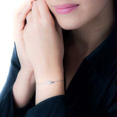 Bracelet Or Blanc Et Diamant - Bracelets chaînes Femme | Marc Orian