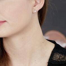 Boucles D'oreilles Puces Kate Or Blanc Diamant - Clous d'oreilles Femme | Marc Orian