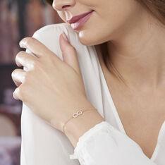 Bracelet Opus Or Jaune Infini Et Oxydes - Bracelets chaînes Femme | Marc Orian