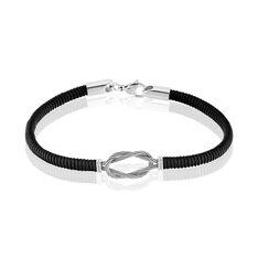 Bracelet Acier Cordon Strie Nœud Marin - Bracelets cordons Homme | Marc Orian