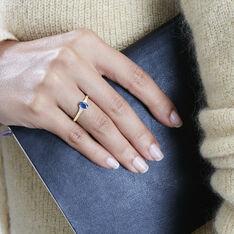 Solitaire Or Jaune Ludmilla Saphir Diamant - Bagues Solitaire Femme | Marc Orian