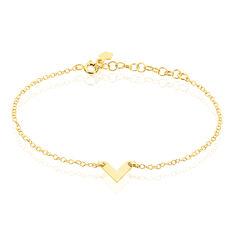 Bracelet Veroniica Argent Jaune - Bracelets chaînes Femme   Marc Orian