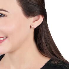 Boucles D'oreilles Puces Odelle Or Jaune Perle De Culture - Clous d'oreilles Femme | Marc Orian