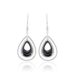 Boucles D'oreilles Pendantes Brewen Argent Céramique Et Oxyde - Boucles d'oreilles Pendantes Femme | Marc Orian