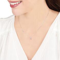 Collier Or Blanc Coeur Diamants - Sautoirs Femme | Marc Orian