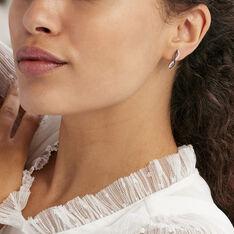 Boucles D'oreilles Puces Alizee Argent Blanc Oxyde De Zirconium - Clous d'oreilles Femme | Marc Orian
