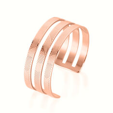 Bracelet Jonc Sirine Acier Rose - Bracelets jonc Femme | Marc Orian