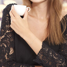 Bracelet Or Jaune Helena Croix Oxydes Helena - Bracelets chaînes Femme | Marc Orian