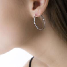 Créoles Valencina Flexibles Rondes Or Blanc - Boucles d'oreilles Créoles Femme   Marc Orian