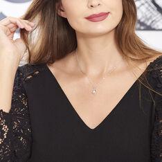 Collier Ainhoa Maille Forçat Argent Blanc Perle De Culture - Colliers Femme   Marc Orian