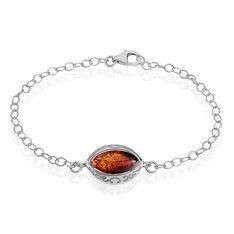 Bracelet Clarita Argent Blanc Ambre Et Oxyde De Zirconium - Bracelets chaînes Femme | Marc Orian