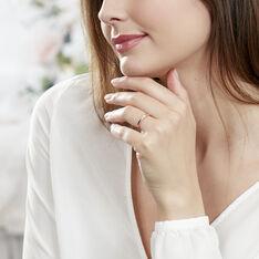 Bague Lou Or Rose Diamant - Parure de mariage Femme | Marc Orian