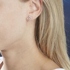 Boucles D'oreilles Puces Aryanne Or Jaune Diamant - Clous d'oreilles Femme   Marc Orian