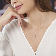 Collier Shaeen Or Blanc Diamant - Colliers Femme | Marc Orian