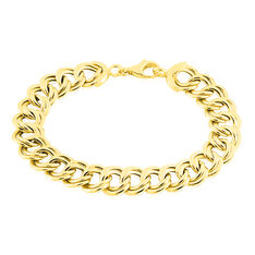 Bracelet Aaron Maille Fantaisie Or Jaune - Bracelets chaînes Femme | Marc Orian