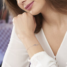 Bracelet Marnie Or Blanc Diamant - Bracelets chaînes Femme | Marc Orian