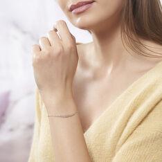 Bracelet Aliah Argent Blanc Oxyde De Zirconium - Bracelets chaînes Femme | Marc Orian